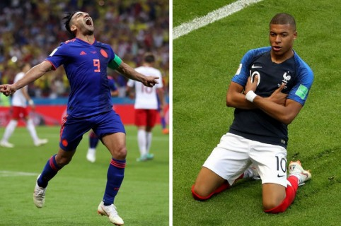 Falcao y Mbappe