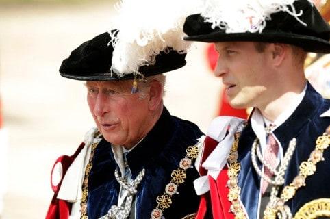El príncipe Carlos y el príncipe William