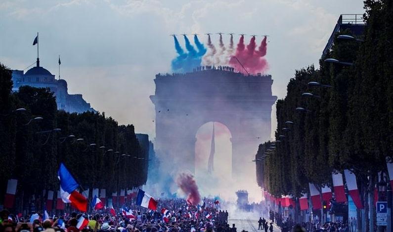 Recibimiento a Selección de Francia