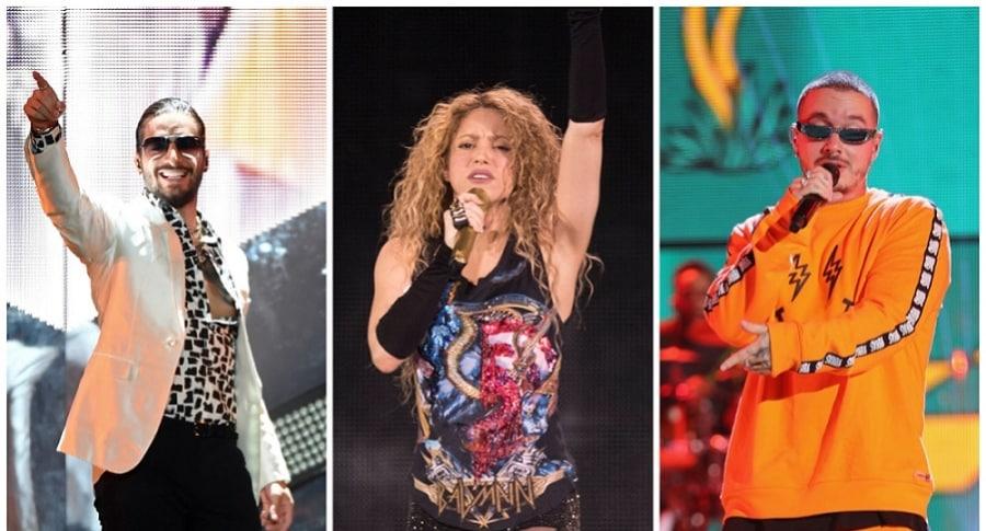 Maluma, Shakira y J Balvin