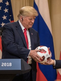 Presidente Trump y Presidente Putin Hold A Joint Press Conference After Summit