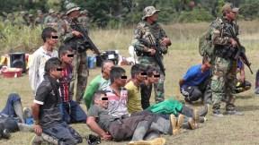 Detenidos en la frontera colomboperuana