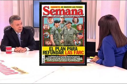 Juan Manuel Santos y María Jimena Duzán