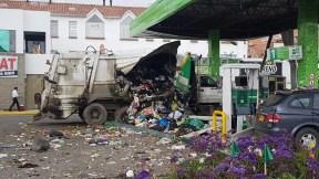 Explosión en estación de gasolina