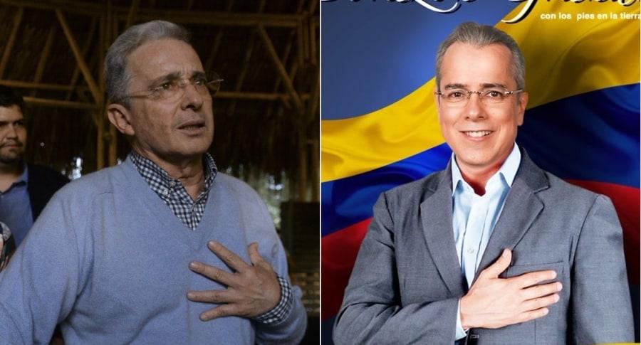 Álvaro Uribe, expresidente, y Jorge Enrique Abello, actor.