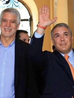 Iván Duque y Enrique Peñalosa