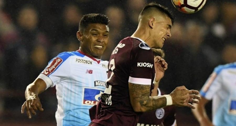 Teófilo Gutiérrez en Lanús VS. Junior