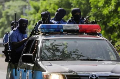 Fuerzas gobiernistas en Masaya
