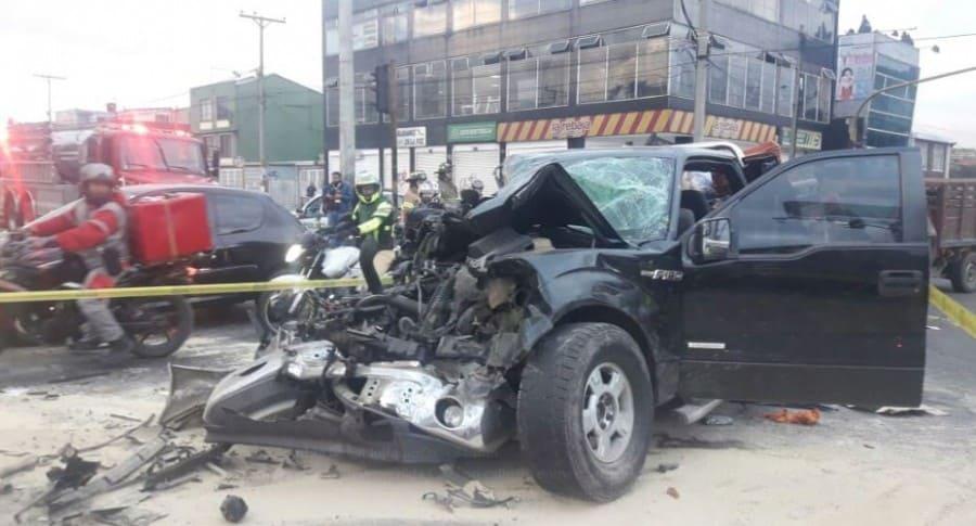 Accidente en Avenida Ciudad de Cali
