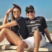 Valentina Ochoa con su pareja, el actor Sebastián Vega.