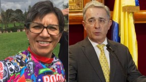 Claudia López y Álvaro Uribe Vélez