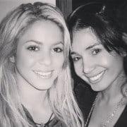 Shakira, cantante, con Xilena Aycardi, actriz.