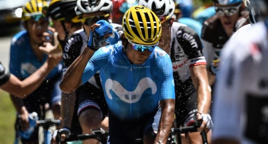 Nairo Quintana durante la etapa 12 del Tour de Francia