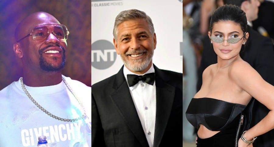 Floyd Mayweather Goerge Clooney Kylie Jenner