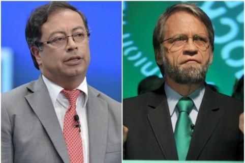 Los senadores Gustavo Petro y Antanas Mockus.