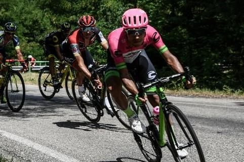 Daniel Martínez en la etapa 14 del Tour de Francia