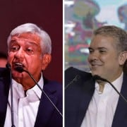 Manuel López Obrador e Iván Duque