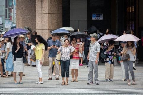 Ola de calor en Tokio, Japón