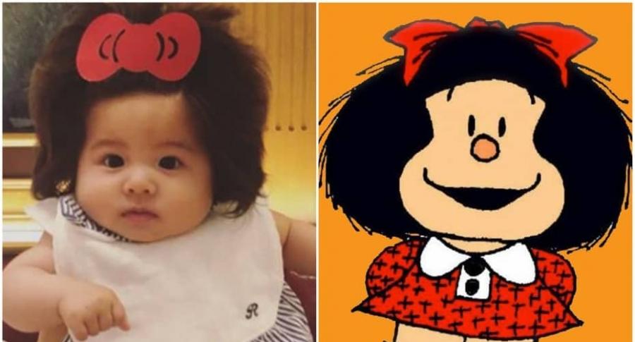 Niña con melena frondosa / Mafalda.
