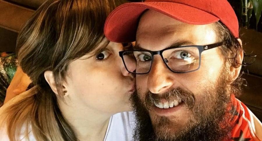Andrés Parra, actor, y su esposa Diana Cáliz.
