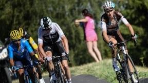 Nairo Quintana, Chris Froome y Romain Bardet