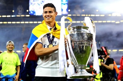 James Rodríguez con la Champions League
