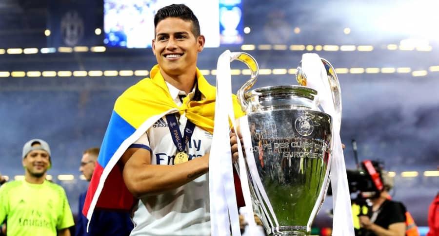James Rodríguez con la Champions League