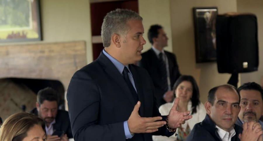 Duque se reúne por primera vez con los ministros designados de su Gobierno