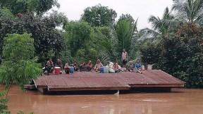 Inundaciones en Laos por ruptura de presa