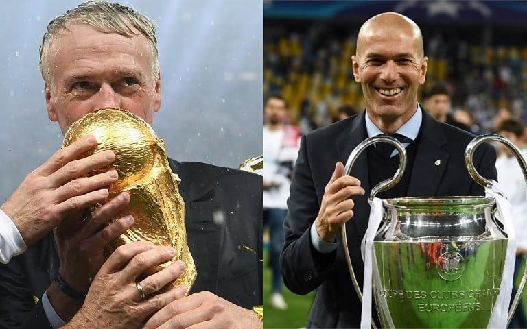 Didier Deschamps y Zinedine Zidane