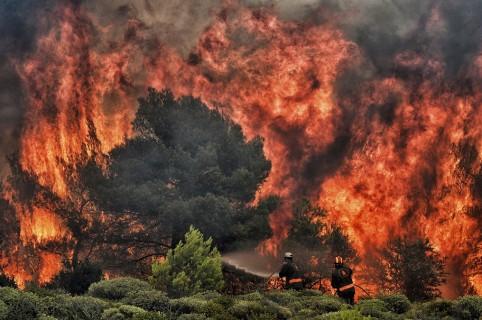 Fuego en Grecia