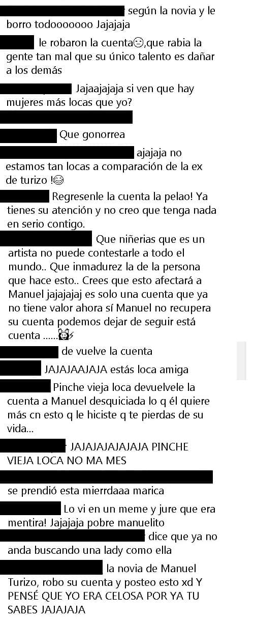 Comentarios Manuel Turizo, captura de pantalla