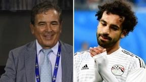 Jorge Luis Pinto y Mohamed Salah