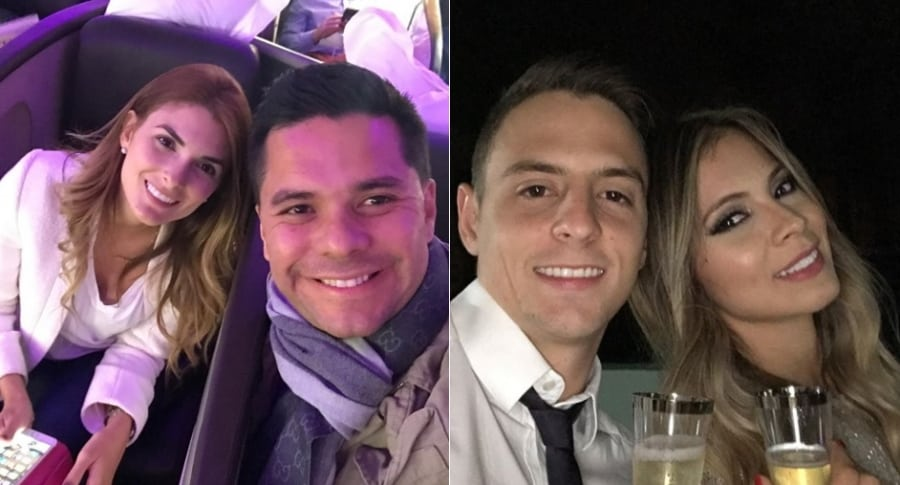 Siad Char, presentadora, Luis Carlos Vélez, periodista, Santiago Arias, futbolista, y Karin Jiménez, modelo.
