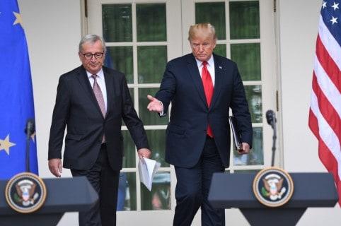 Trump y Europa (AFP)