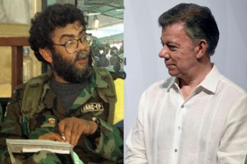 'Alfonso Cano' y Juan Manuel Santos