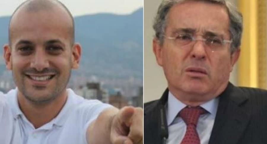 Santiago Jaramillo y Álvaro Uribe