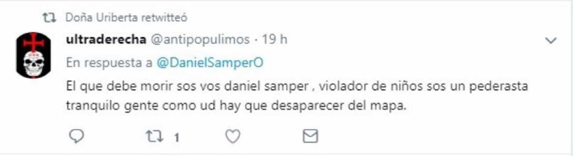 Amenaza a Daniel Samper