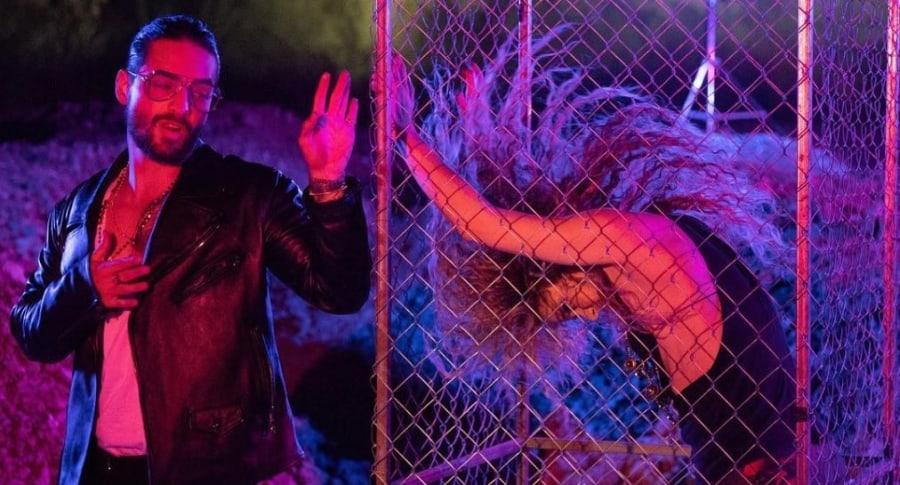 Maluma y Shakira, cantantes.