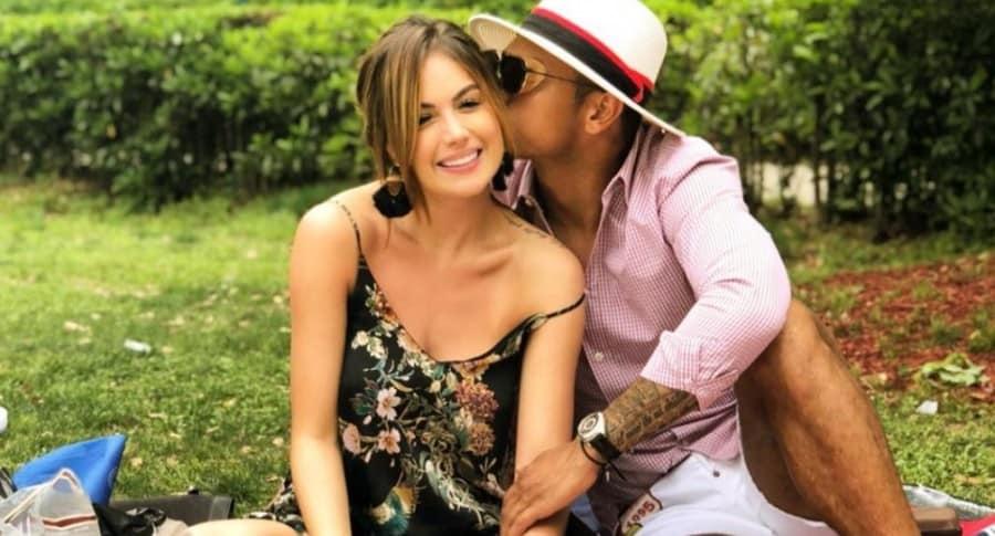 Sara Uribe, modelo, y Fredy Guarín, futbolista.