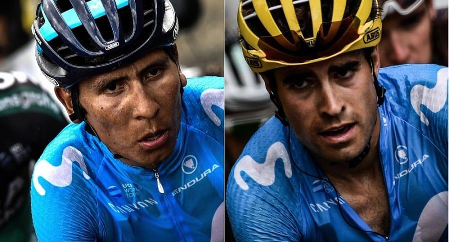 Nairo Quintana y Mikel Landa, ciclistas.
