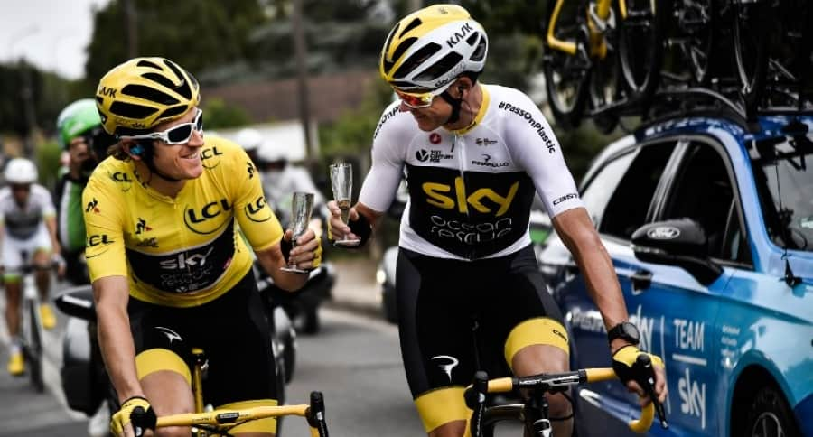 Geraint Thomas y Chris Froome