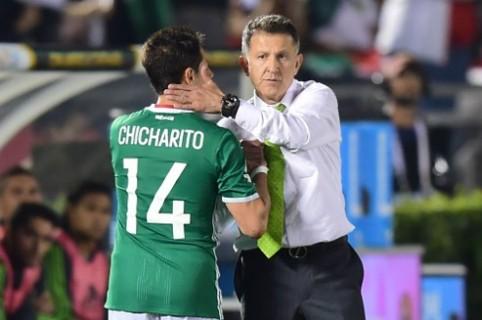 Javier 'Chicharito' Hernández y Juan Carlos Osorio