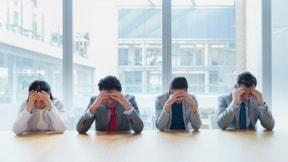Empleados estresados