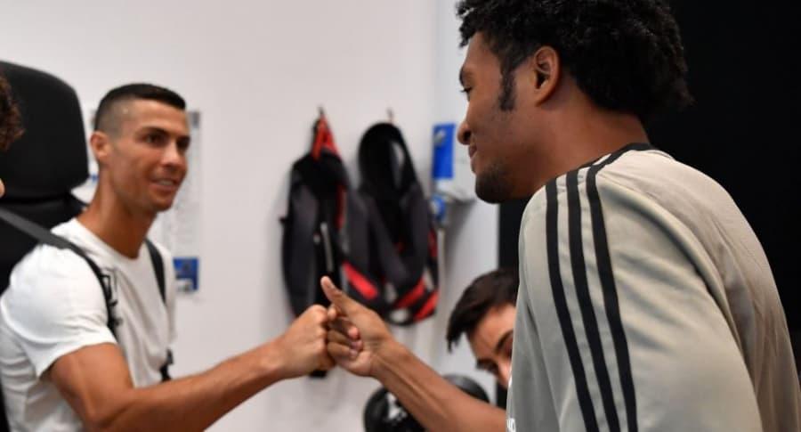 Cristiano Ronaldo y Cuadrado