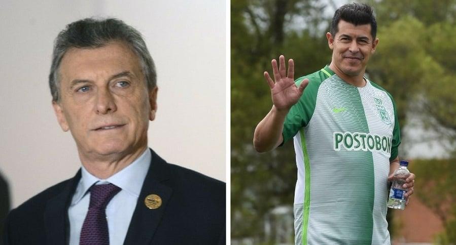Mauricio Macri y Jorge Almirón