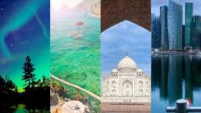 Tromso, Capri, Taj Mahal, Singapur