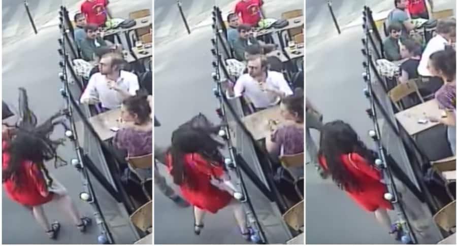 Hombre golpea a joven en París.