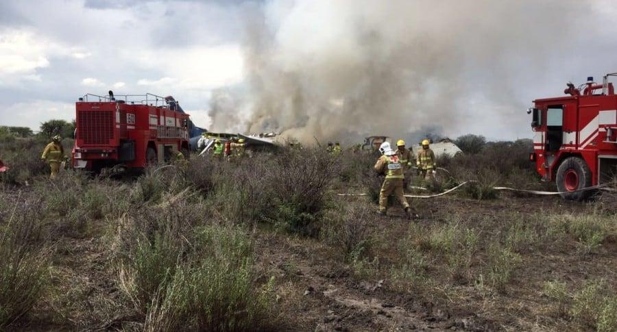 Avión accidentado en México