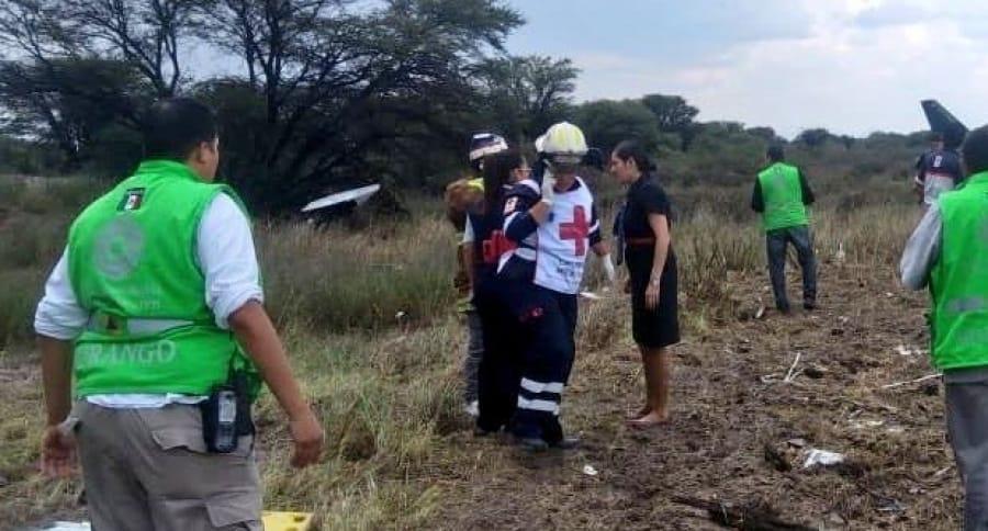 Accidente de avión en México